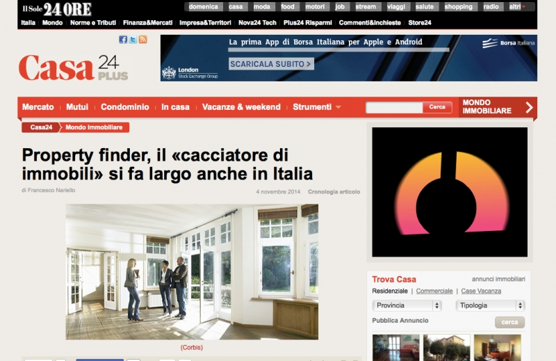 property finder il sole 24 ore