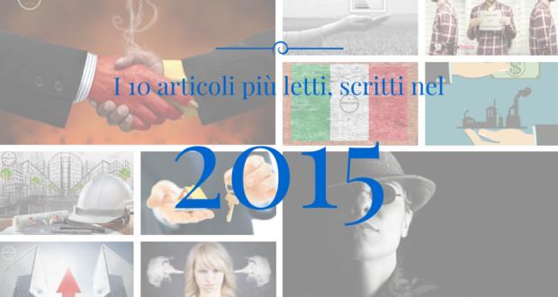 I 10 articoli più letti, scritti nel 2015